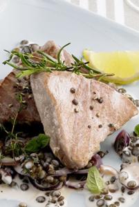 Thunfisch zu Sekt, Cava, Champagner