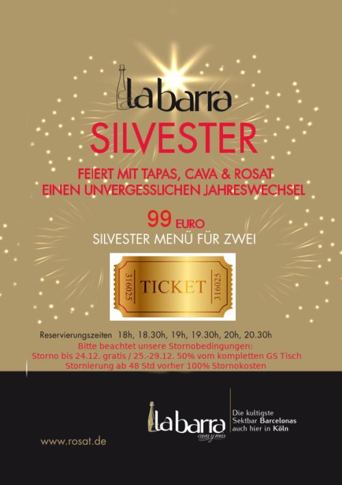Silvester Menü La barra Ticket 99€